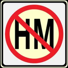 No Hazardous Materials Shipments